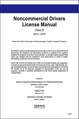 North Dakota Noncommercial Driver License Manual Class D